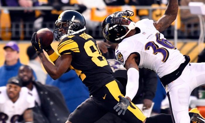 A Steelers megdöbbentette Ravens-t és a legutóbbi gömbölyű Antonio Brown-os megosztást
